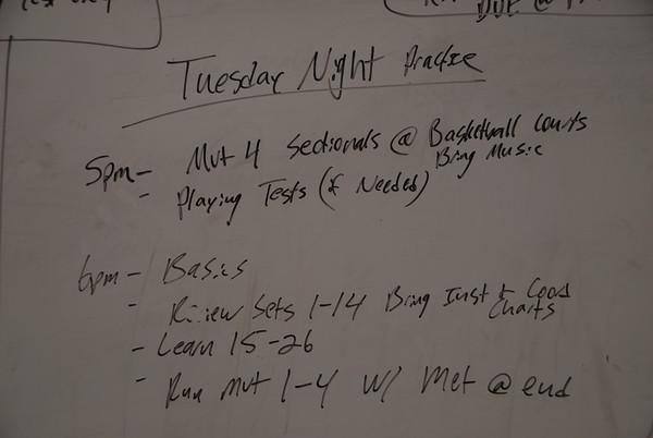 2013-09-17 Tuesday Rehearsal